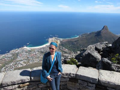 A Table Mountain em Cape Town