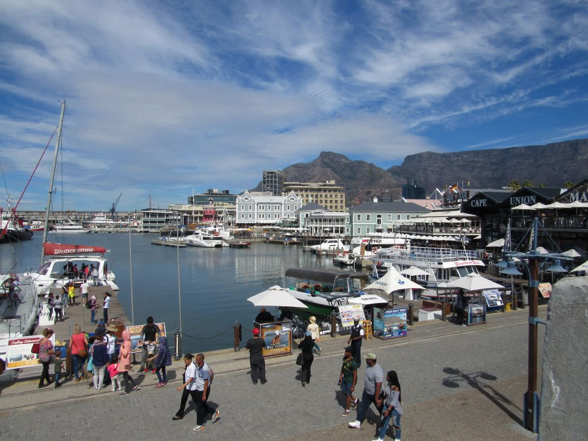 V&A Waterfront na Cidade do Cabo