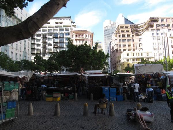 Greenmarket Square na Cidade do Cabo