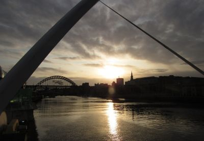 Quayside em Newcastle upon Tyne